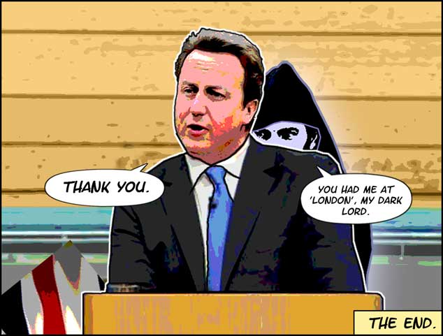 David Cameron Appeals To Scotland. Or Not.