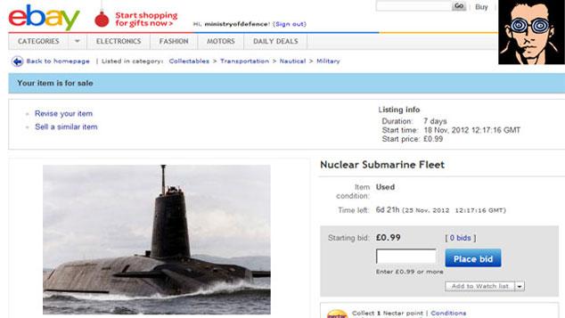 Trident Nuclear Submarine Fleet For Sale