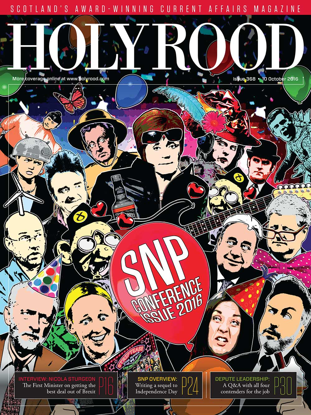 Holyrood magazine cover by Greg Moodie