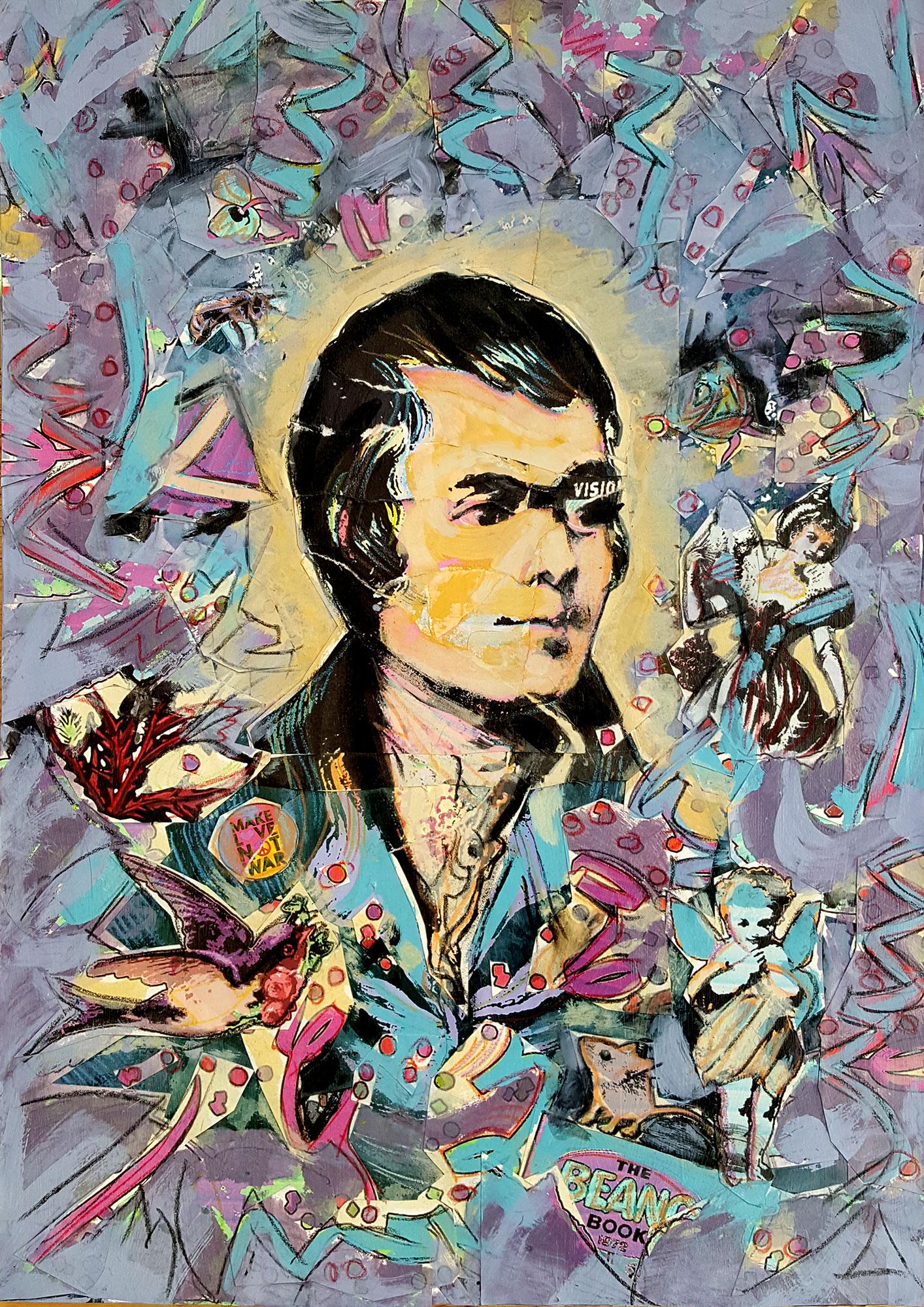 Portrait of Robert Burns - Sweet Afton