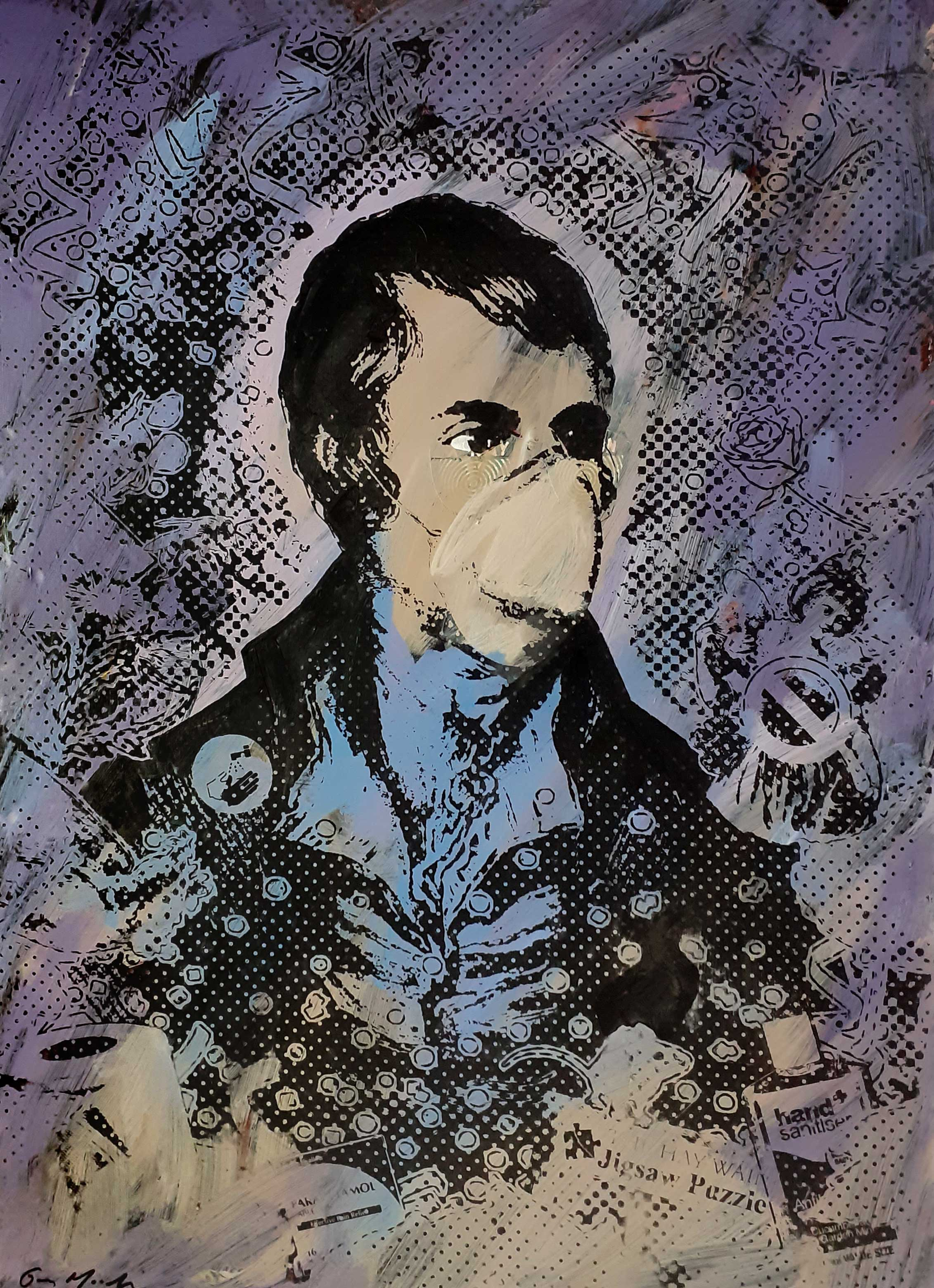 Portrait of Robert Burns - Lockdown5